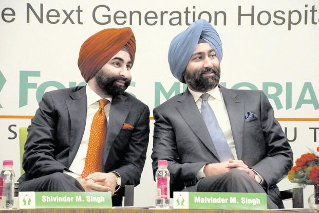 Shivinder and Malvinder Singh. Photo: Hindustan Times