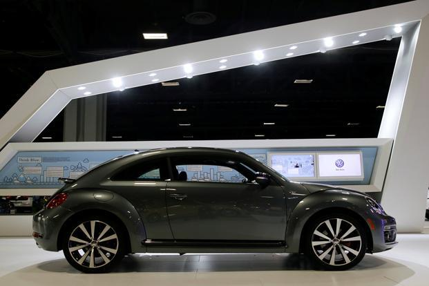 A 2015 Volkswagen Beetle R-Line model at an Auto Show in Washington, DC January 2015. Photo: Reuters