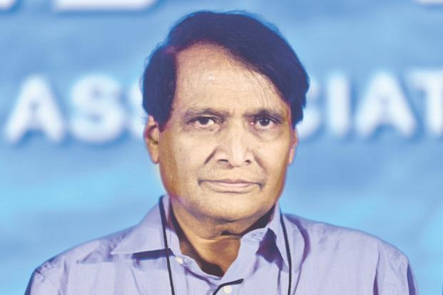 Commerce and industry minister Suresh Prabhu also urged to work towards closing gaps in the digital divide within and across nations through capacity building measures, technology adaptation and meaningful investments. File photo: Pradeep Gaur/Mint