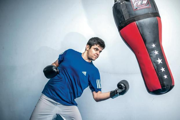 Raghav Verma practices mixed martial arts regularly to stay fit. Photo: Pradeep Gaur/Mint