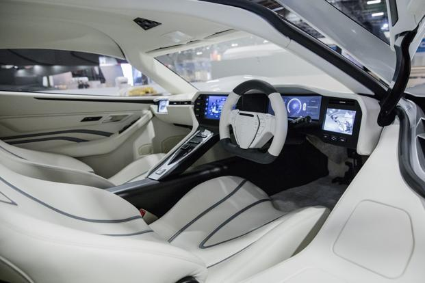 The Aspark owl comes with no assisted-driving and has very little in the way of electronics to speak of. Photo: Bloomberg