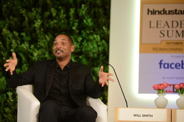 Actor Will Smith at the HT Leadership Summit last week. Photo: Ramesh Pathania/Mint