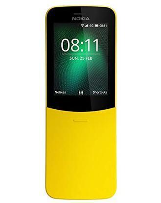 The new Nokia 8110 retains the slider, which reveals the alpha-numeric keypad and the same 'banana phone' design philosophy of the original Nokia 8110. Photo: Nokia
