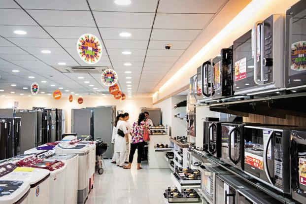 Online sales of large appliances are now expected to grow 33% year-on-year and reach $1.2 billion by the end of 2018, the RedSeer report added. Photo: Aniruddha Chowdhury/Mint