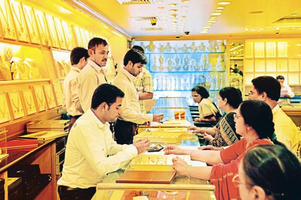 In Delhi, gold rate of 99.9% fell by Rs 70 to Rs 32,180 per 10 gram, while 99.5% purity lost Rs 80 to Rs 32,020 per 10 gram. Photo: Mint