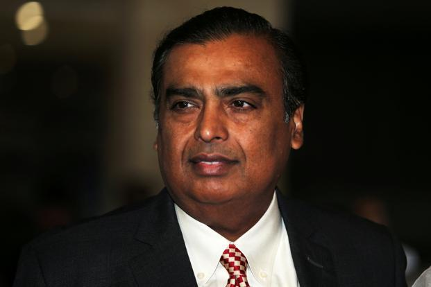Reliance Industries chairman Mukesh Ambani. On Wednesday, RIL shares fell 1.27% to ₹1,148.90 on the BSE, while the benchmark Sensex closed at 34,779 points, down 1.09%. Photo: Reuters