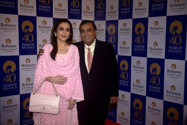 Mukesh Ambani with his wife, Nita Ambani who runs the Reliance Foundation. Photo: Abhijit Bhatlekar/Mint