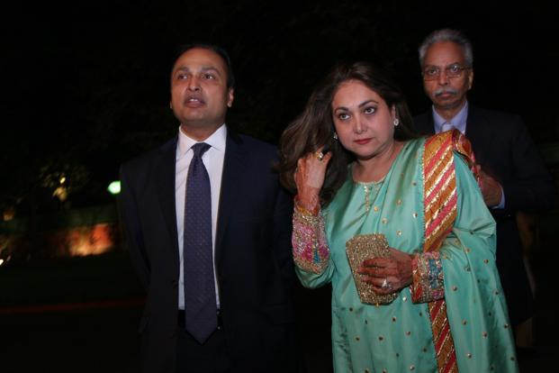 Anil Ambani with wife Tina Ambani in 2010. Photo: HT