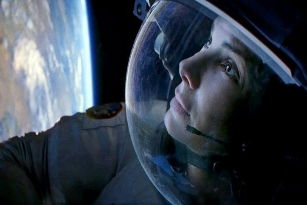 Sandra Bullock in the movie 'Gravity'.