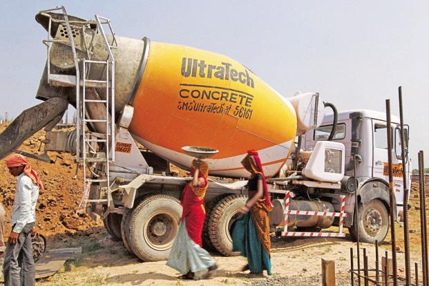 Shares of UltraTech Cement dropped 4.2% after the results. Photo: Reuters