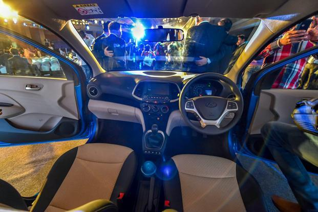 The interior of Hyundai's new Santro car. Photo: PTI