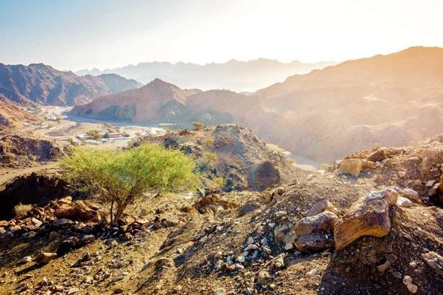 A view of Al Hajar mountains. Istockphoto