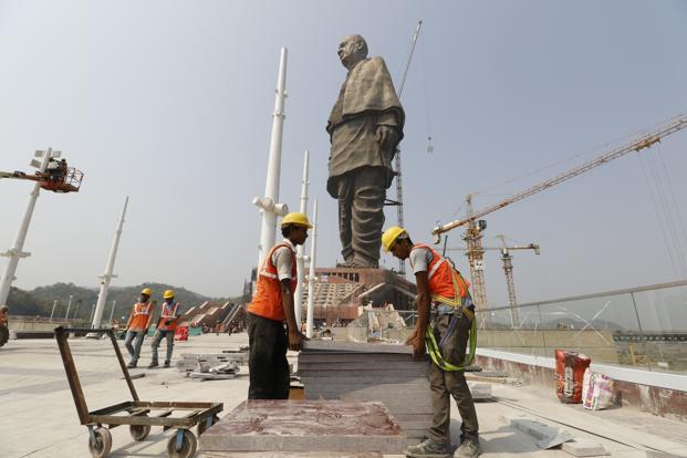 Gujarat has an existing industrial policy that reserves 85% of jobs for locals. A state government official, when asked if the Statue of Unity adheres to the policy, refused to comment on the matter, saying that the issue would be examined.