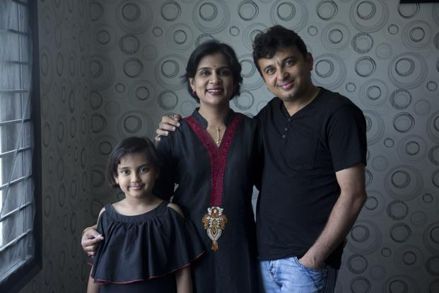 Jayant and Priyanka Poogalia's primary long-term goal is saving for the education and marriage of their 8-year-old daughter Trishla. Photo: Kumar/Mint