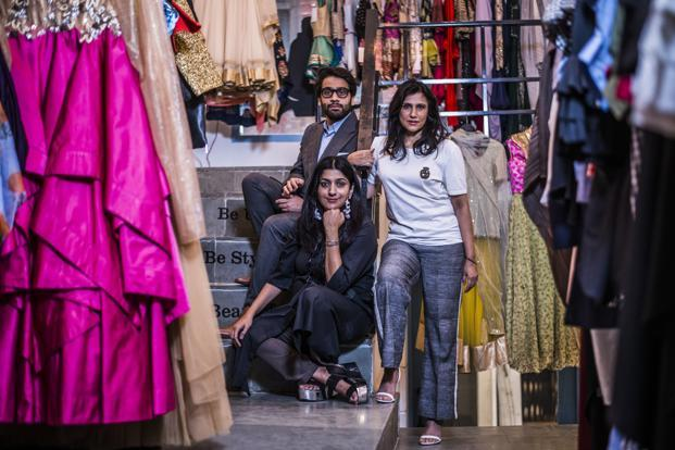 Stage3 co-founders (from left) Sanchit Baweja, Sabena Puri and Rina Dhaka at their Hauz Khas store in Delhi. Photo: Pradeep Gaur/Mint