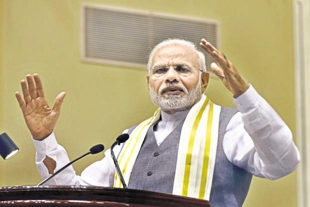 Prime Minister Narendra Modi has promised up to ₹1 crore MSME loan in 59 minutes. Photo: HT
