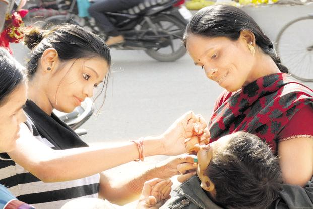 The contamination of the polio vaccine produced by Bio-Med threatens to change India's polio-free status. Photo: HT