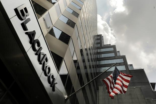 A sign for BlackRock Inc on its building in New York, US. Image: Reuters