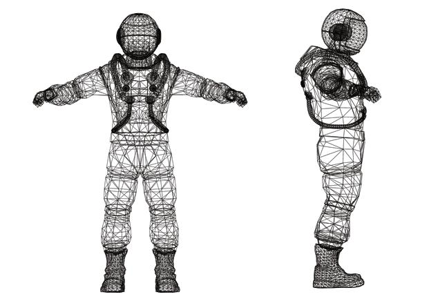 Representational image of spacesuit blueprints