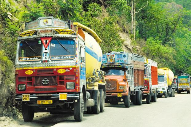 Sales of commercial vehicles jumped 24.82% to 87,147units in October, against 69,816 units a year ago. Photo: Ramesh Pathania/Mint
