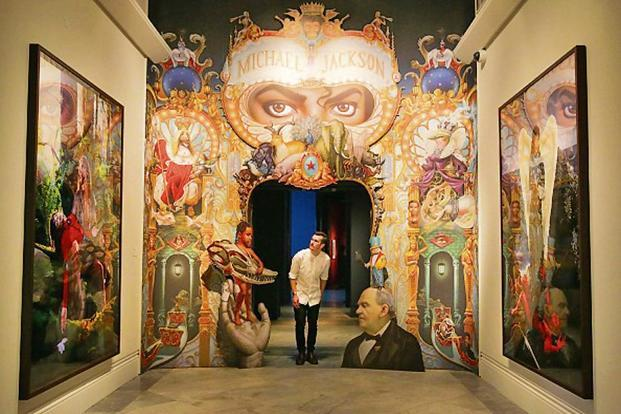 The King of Pop by US artist Mark Ryden at the National Portrait Gallery in central London. Photo: AFP (AFP)