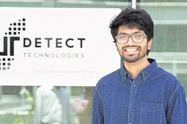 DeTect CEO Daniel Raj David. The Chennai-based robotics startup provides services to companies such as Bharat Petroleum, Tata Steel and Reliance Industries.