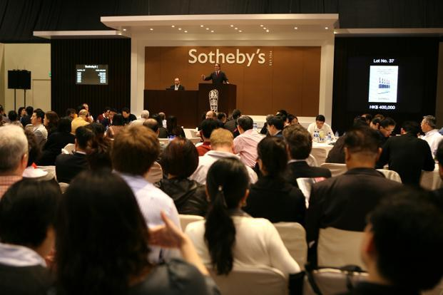 Sotheby's is slated to conduct its maiden art auction in India next week. Photo: Bloomberg