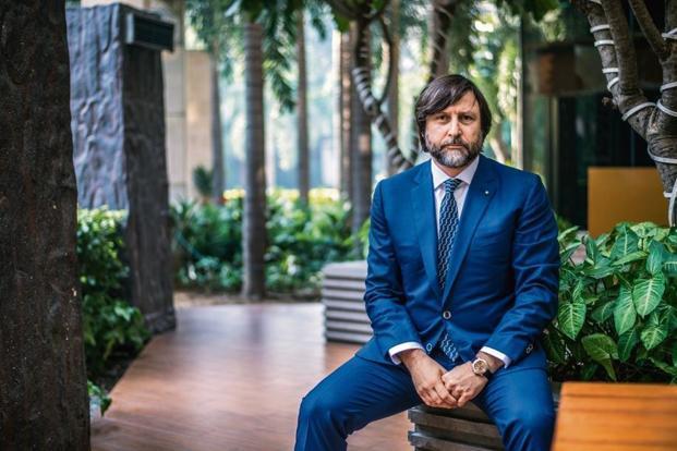 Claudio Marenzi, president of Pitti Immagine, the Italian company that organizes Pitti Uomo, the world's biggest trade fair for men's clothing and accessories. Photo: Pradeep Gaur/Mint