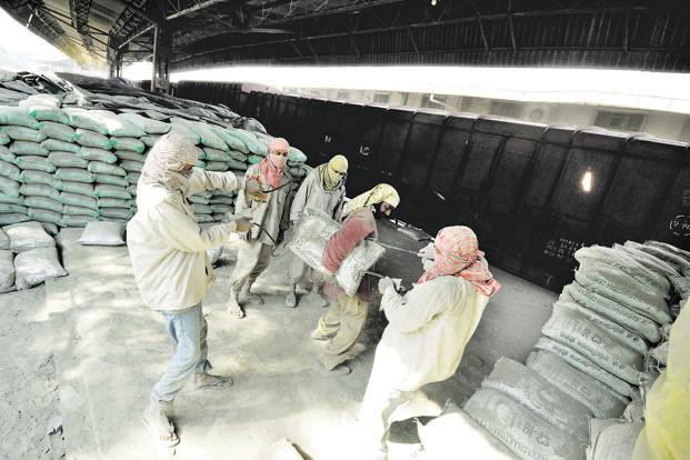Cement prices in south India fell by ₹12 a bag to a 12-month low of ₹328 a bag in November. Photo: Priyanka Parashar/Mint