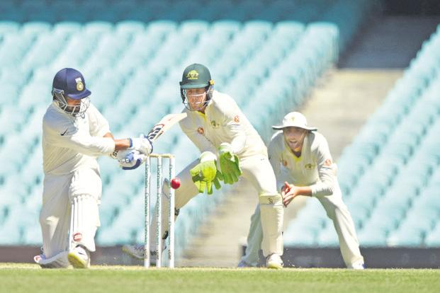 India's Murali Vijay in action against Cricket Australia XI in Sydney on Saturday. Photo: AFP