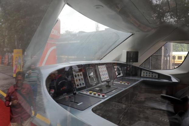 Train 18 has aerodynamically designed driver cabins at both ends for quicker turn-around at destinations. Photo: Reuters