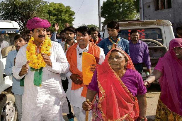 Senior BJP leader Yunus Khan (left) is contesting against Rajasthan Congress chief Sachin Pilot in Tonk. Photo: Suman Sarkar/Mint