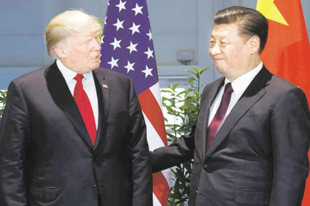 US President Donald Trump (left) and Chinese President Xi Jinping. Photo: AFP