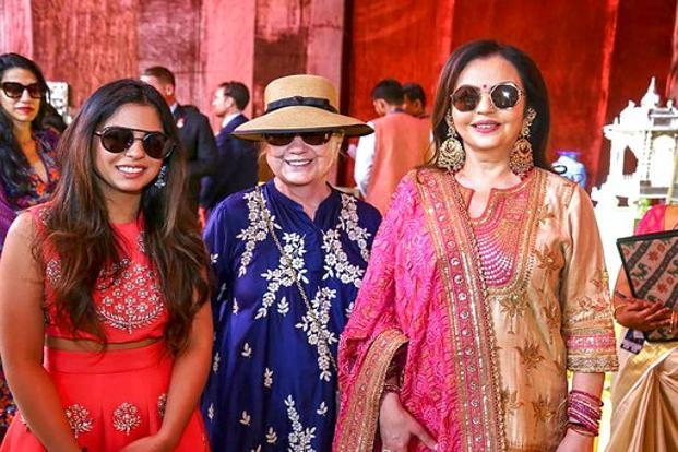 Deepika stuns in red at Isha Ambani's pre-wedding function