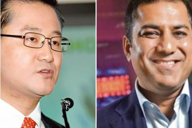 GLP CEO Ming Mei and Everstone Capital CEO Sameer Sain.