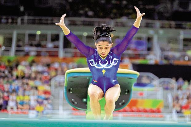 Gymnast Dipa Karmakar is best known for her 'Produnova' at the 2016 Rio Olympics where she finished fourth. Photo: Reuters