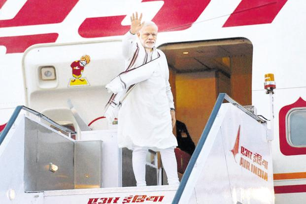 Prime Minister Narendra Modi has made 84 foreign trips in the past four-and-a-half years. Photo: PTI