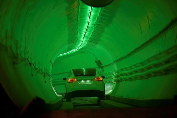 Elon Musk's Boring Company Unveils Test Transit Tunnel