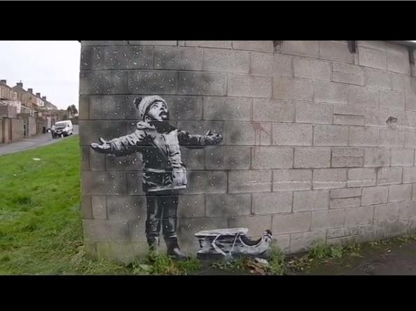 Man is in shock after Banksy's artwork appears in Port Talbot
