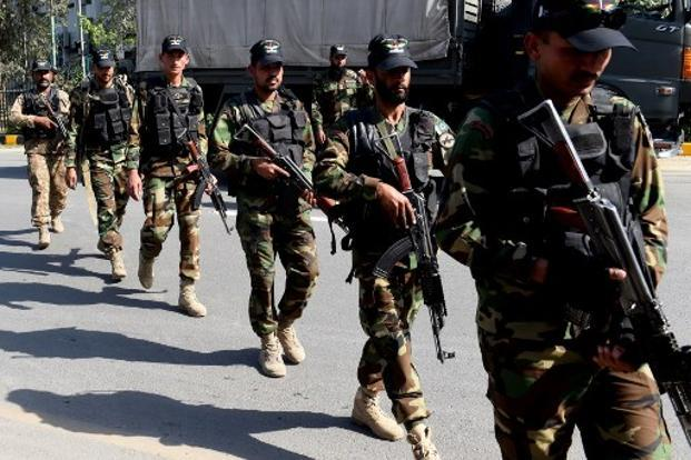 A file photo of Pakistani soldiers. Most of the tanks Pakistan was procuring will be able to hit targets at a range of 3 to 4 km and they are set to deploy some of the tanks along the LoC in J&K, the intelligence sources said. Photo: AFP