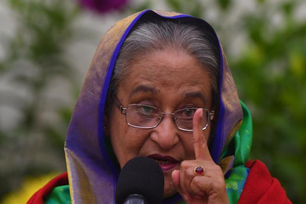 The coalition led by Bangladesh Prime Minster Sheikh Hasina's Awami League has posted a landslide victory in the nation's parliamentary polls. Photo: AFP