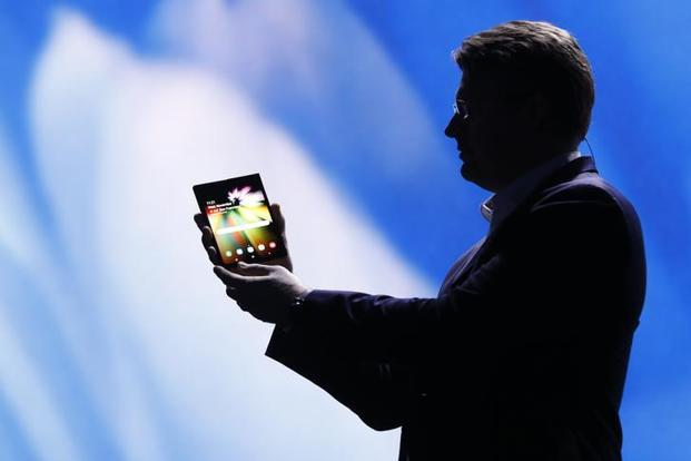 Samsung's new foldable screen smartphone.