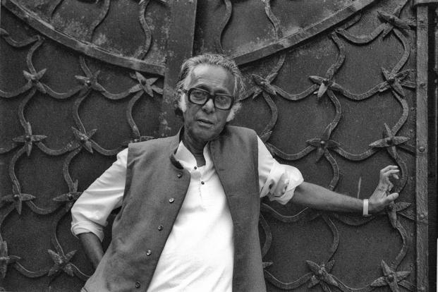 Director Mrinal Sen at the Venice Film Festival in 1981.