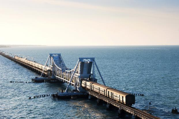 Pamban bridge uses 'Scherzer' rolling lift technology in which the bridge opens up horizontally. Photo: iStock
