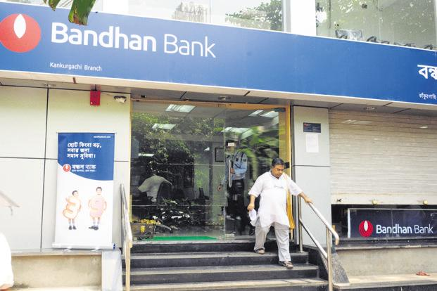 On Monday, Bandhan Bank shares fell 5.21%, or ₹27.55, to ₹501.10 apiece on the BSE while the benchmark Sensex rose 0.43% to 35,850.16 points. Photo: Mint