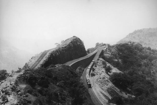"""A file picture of a railway line on the Western Ghats circa 1880. The Act XLII of 1850 """"declared that Railways were public works"""" and thus enabled the government to easily acquire land for the same. Photo: Hulton Archive/Getty Images (Hulton Archive/Getty Images)"""