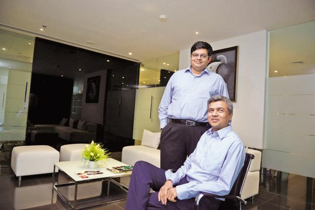 Rajesh Patil, chairman and managing director (sitting), and Sujay Kalele, CEO, Kolte-Patil Developers. Photo: Abhijit Bhatlekar/Mint