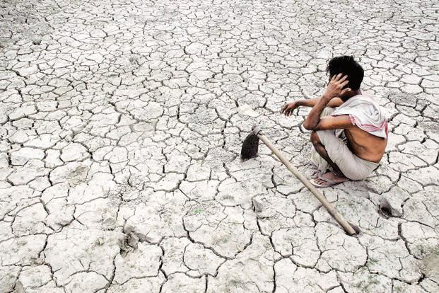 A drought can simultaneously lower GDP growth, raise inflation and add to fiscal pressures, leaving India's sovereign credit profile more susceptible to affects of drought, the Moody's report said. Photo: AFP