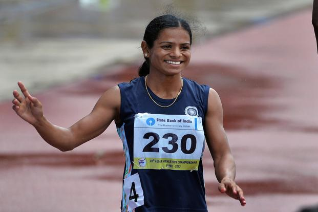 A file photo of Dutee Chand. The CAS judgment on Chand's appeal pointed out the inadequacy of the science on the basis of which the Hyperandrogenism Regulations and its predecessors were based. Photo: Manjunath Kiran/AFP
