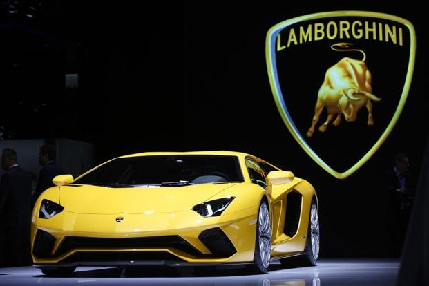 The Lamborghini Aventador S, which has a top speed of 217 mph, goes from 0 to 62 mph in 2.9 seconds and can reach 186 mph in less than 25 seconds. Photo: Bloomberg